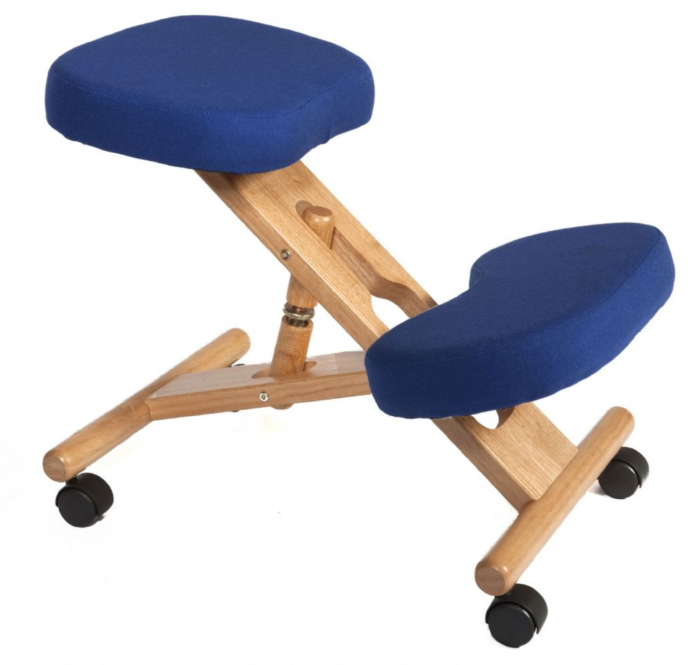 TEKNIK KNEELING CHAIR Wooden Framed Kneeling Chair with a Choice of Fabric Colours